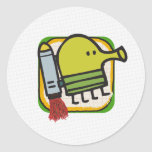 Doodle Jump Classic Round Sticker