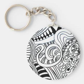 doodle key ring keychains