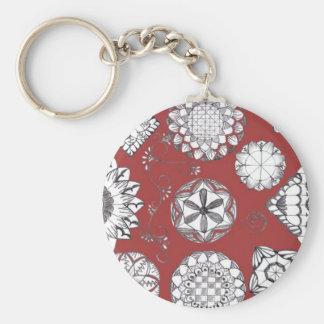 Doodle Key Ring Basic Round Button Key Ring