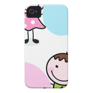 DOODLE KIDS WITH LABELS iPhone 4 Case-Mate CASES