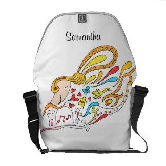 Doodle love courier bag