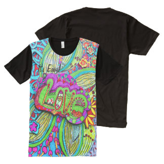 Doodle LOVE design by Cindy Ginter All-Over Print T-Shirt