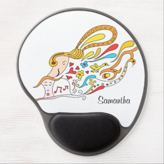 Doodle love gel mouse pad