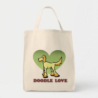 Doodle Love Tote Grocery Tote Bag