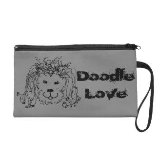 Doodle Love Wristlet Clutch