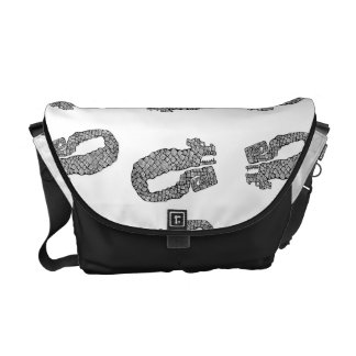Doodle Monster Messenger Bags
