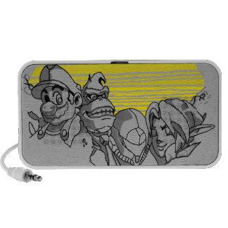 Doodle Monte Rushmore nerd Portable Speakers