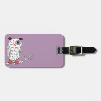 """Doodle Owl on a Branch"" Tag For Luggage"