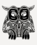 doodle owl tee shirt