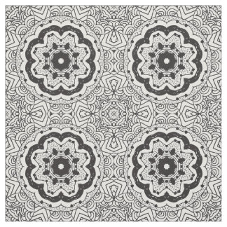 Doodle Pattern Fabric