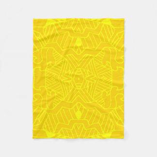 Doodle Pattern Fleece Blanket