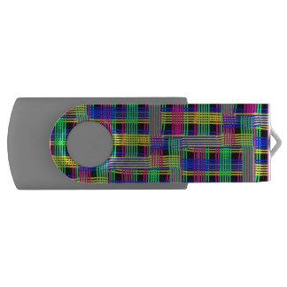doodle Pattern Freedom Swivel USB 2.0 Flash Drive