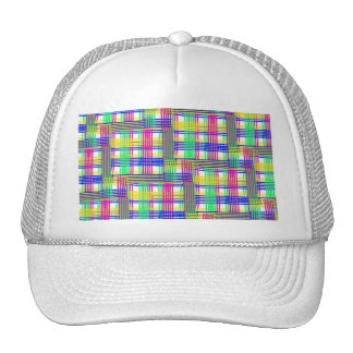 doodle Pattern Freedom,white Mesh Hats
