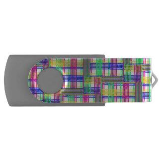 doodle Pattern Freedom white Swivel USB 2.0 Flash Drive