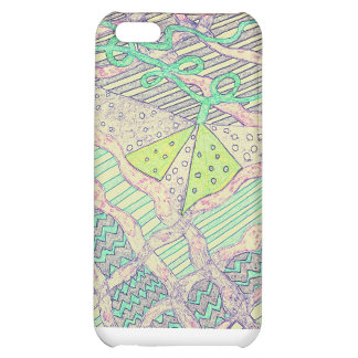 Doodle pattern iPhone 5C covers