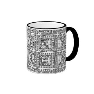 doodle pattern mugs