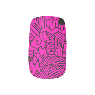 Doodle Pattern Nail Art