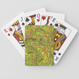 Doodle pattern playing cards