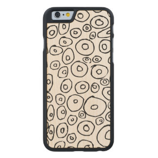 Doodle pattern carved® maple iPhone 6 slim case