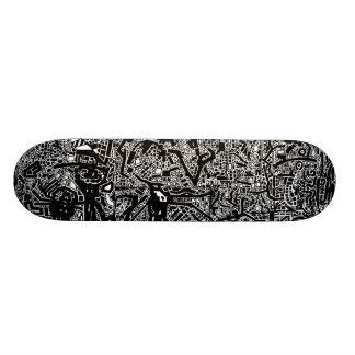 Doodle pig skate custom skateboard