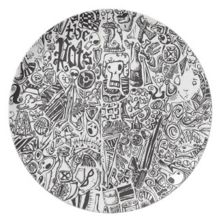 Doodle Rots Plate