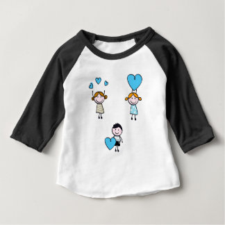DOODLE SCHOOL KIDS WITH HEARTS BABY T-Shirt