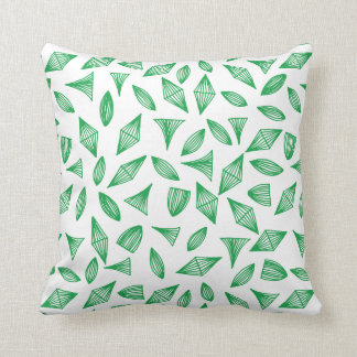 doodle shapes patterned pillow cushion