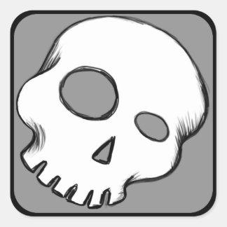 Doodle Skull Sticker