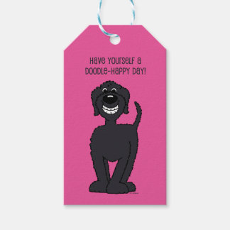 Doodle Smile black Gift Tags