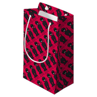 Doodle Smile black Small Gift Bag