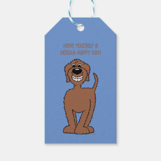 Doodle Smile brown Gift Tags