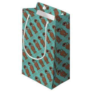 Doodle Smile brown Small Gift Bag