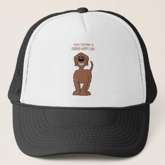 Doodle Smile brown Trucker Hat