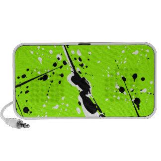 Doodle Speaker - Black & White Paint Splatter