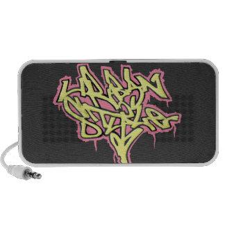 Doodle speaker Pink Urban Stylel Graffiti