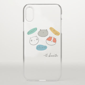 Doodle Stray Cats. Add Name. iPhone X Case