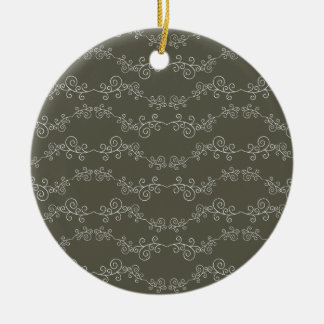 doodle swirl Double-Sided ceramic round christmas ornament