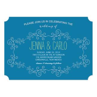 doodle swirl 13 cm x 18 cm invitation card