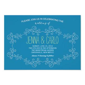 doodle swirl 5x7 paper invitation card