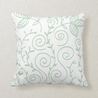 doodle swirl leaves pillows