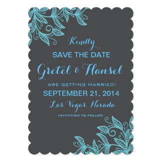 doodle swirl leaves custom invitation