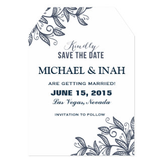 doodle swirl leaves save the date 13 cm x 18 cm invitation card