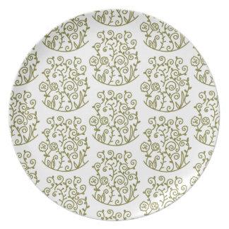 doodle swirl dinner plates