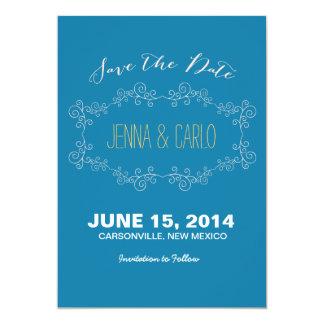 doodle swirl save the date custom invitations