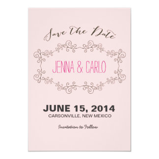 doodle swirl save the date custom invitations
