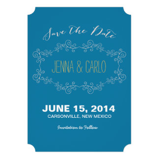 doodle swirl save the date cards