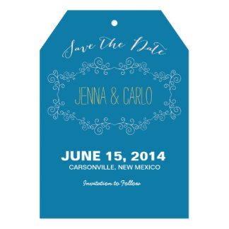 doodle swirl save the date personalized invitation