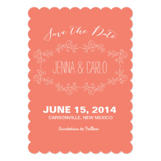 doodle swirl save the date invitation