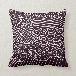 doodle swirls throw cushions