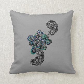 Doodle Swirls Throw Pillow